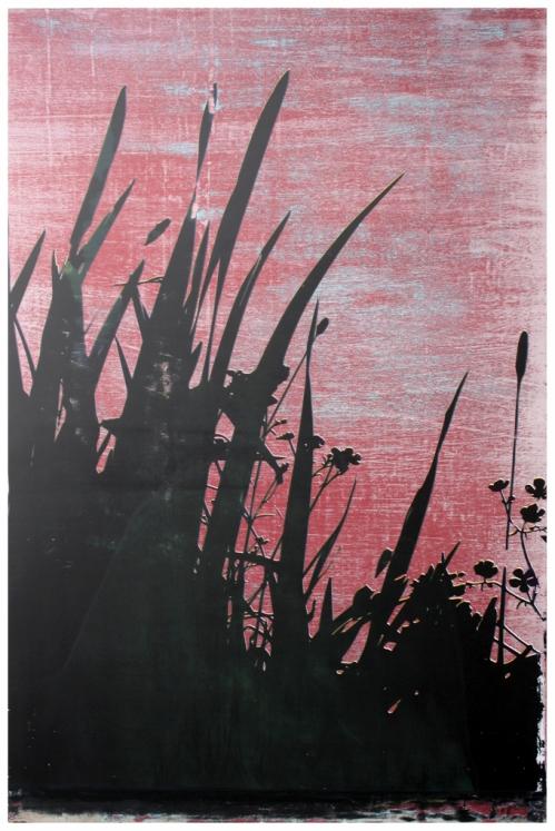 no.1 Night Frightens the Day:Калі ноч палохае дзень. Silkscreen on primed plywood, 81cmx121cm 2014.