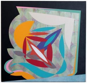 Unseen Sinking. Silkscreen and Aerosol spray-paint on canvas 40cmx40cm
