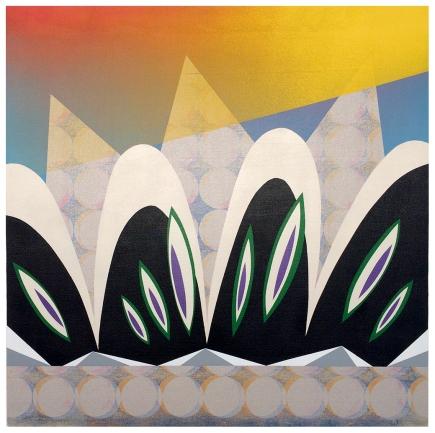 Whispering Ear. Silkscreen and Aerosol spray-paint on canvas 61cmx61cmx2.5cm